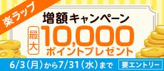 最大10,000ポイント。楽ラップ増額キャンペーン